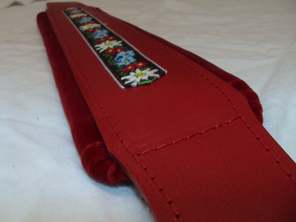 Hohner Accordion Italian Leather Straps Red