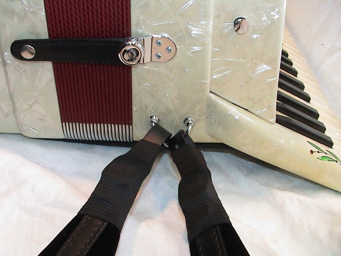 4 x Schnallenschutz, accordion strap buckles protection, SCHWARZ